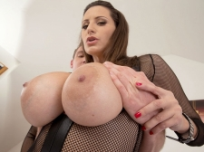 A Man-juice Injection For A 34DDD Brunette